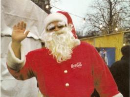 Santa Claus Grüsst